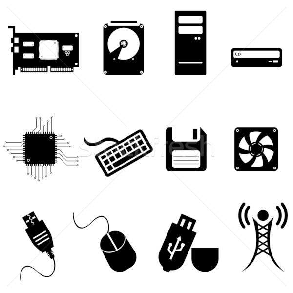 Computer and technology icons Stock photo © soleilc