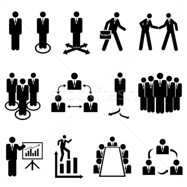 Businessmen, teams and teamwork Stock photo © soleilc