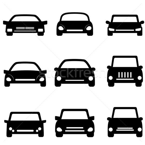 Car and automobile icons Stock photo © soleilc