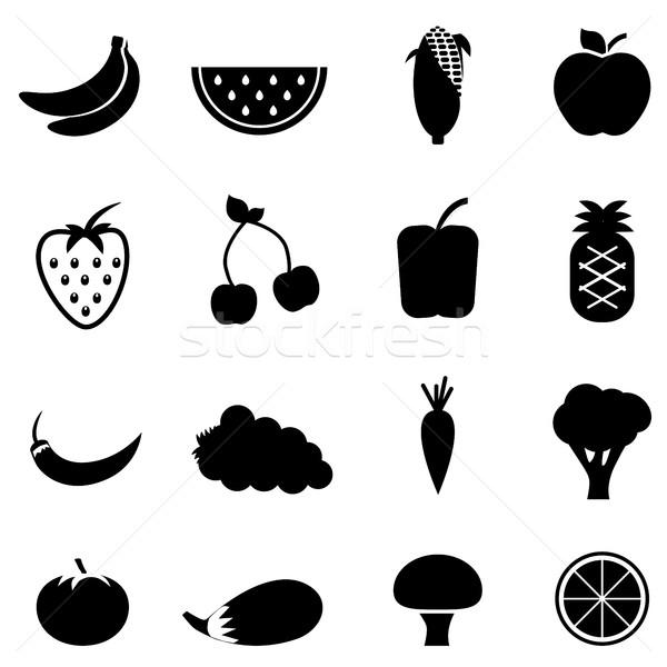 растительное фрукты иконки овощей здоровья еды Сток-фото © soleilc