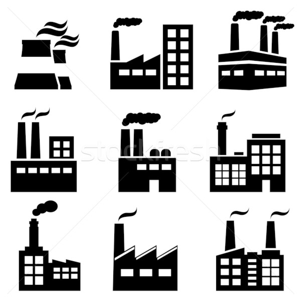 Industrial building, factory and power plants Stock photo © soleilc