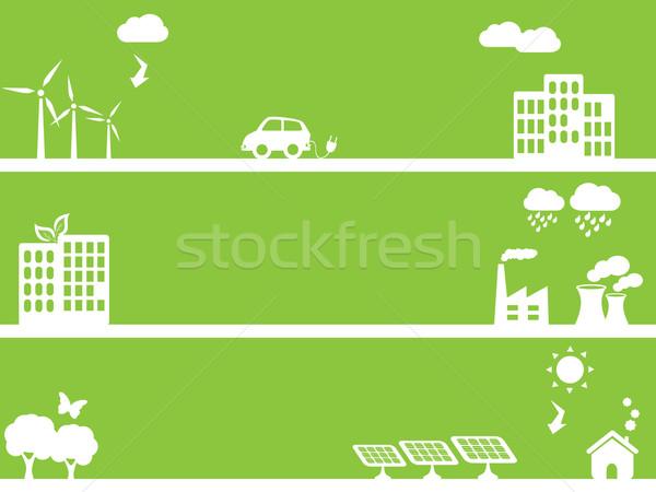 Eco friendly green towns Stock photo © soleilc