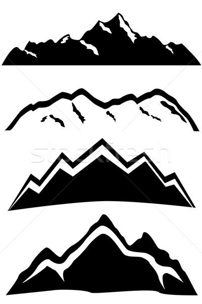 Mountain peaks landscape Stock photo © soleilc