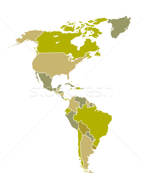 South and North American countries map Stock photo © soleilc
