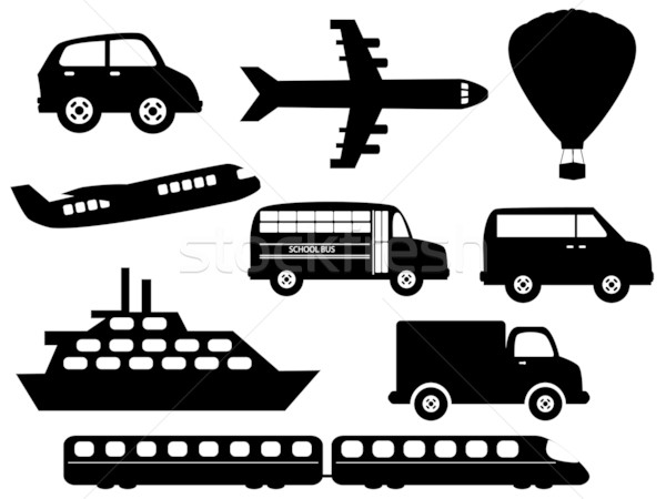 Stock photo: Transportation symbols