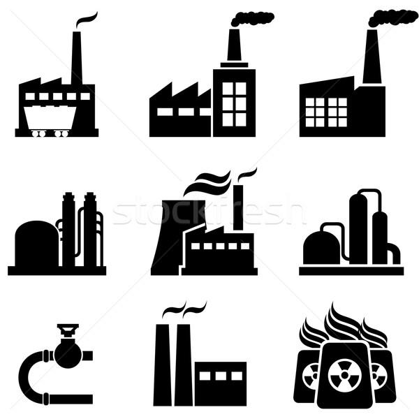 Stock fotó: Erő · növények · gyárak · ipari · épületek · nukleáris