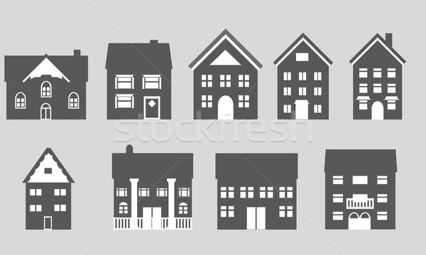 Сток-фото: домах · различный · архитектура · архитектурный · Стили · дома