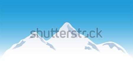 Snowy mountain peaks Stock photo © soleilc