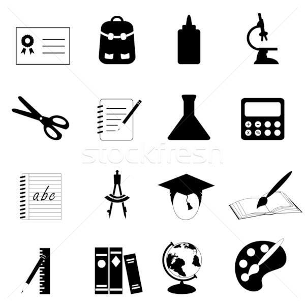 Education and school icons Stock photo © soleilc
