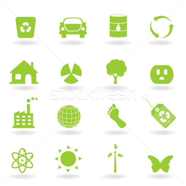 Stock photo: Eco Icon Set