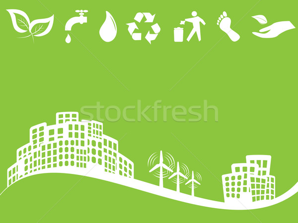 Eco friendly green city Stock photo © soleilc