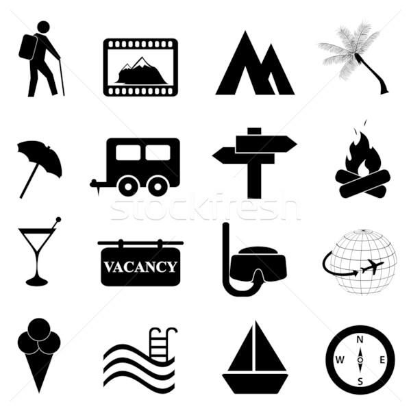Leisure and recreation icon set Stock photo © soleilc