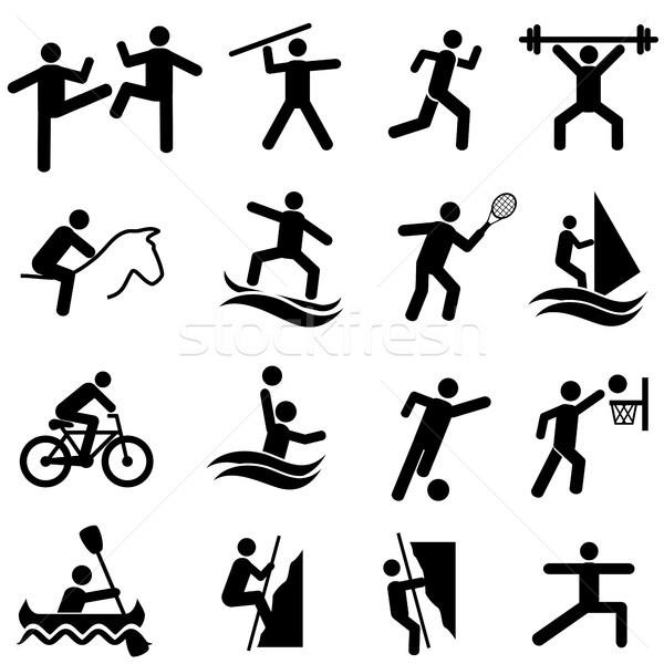 Deportes fitness actividad ejercicio Foto stock © soleilc