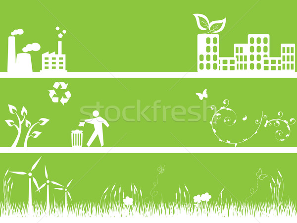 Green environment and city Stock photo © soleilc