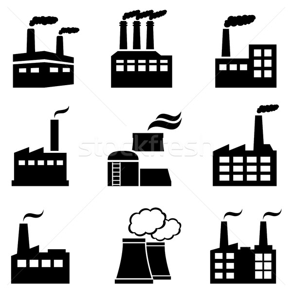 Industrial buildings, factories and power plants Stock photo © soleilc