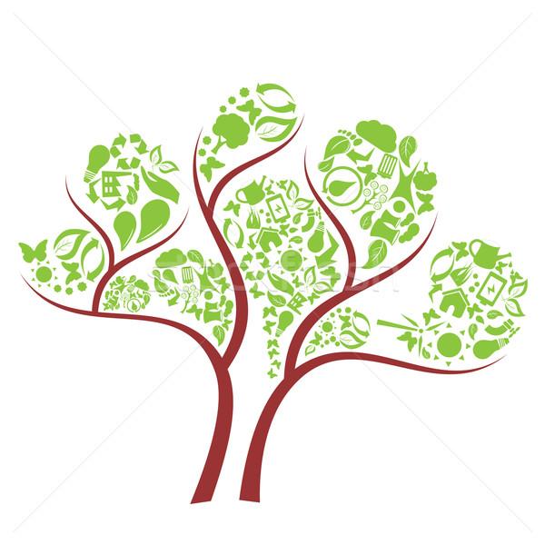 Green eco tree Stock photo © soleilc