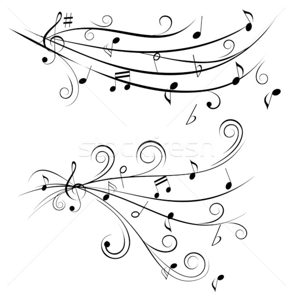 Music notes on staff Stock photo © soleilc