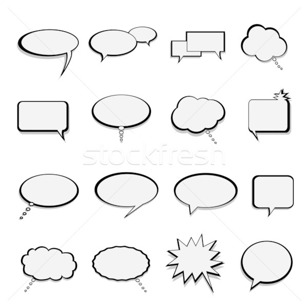 Talk and speech balloons or bubbles Stock photo © soleilc
