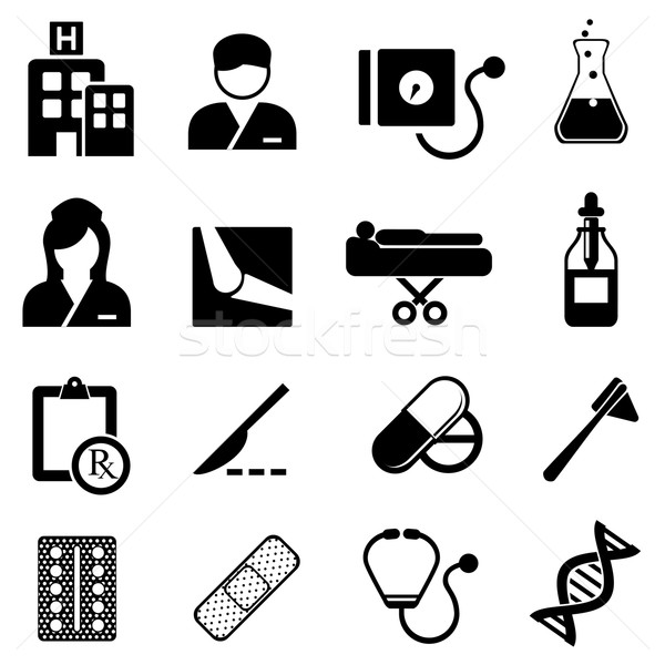 Healthcare and medical icons Stock photo © soleilc