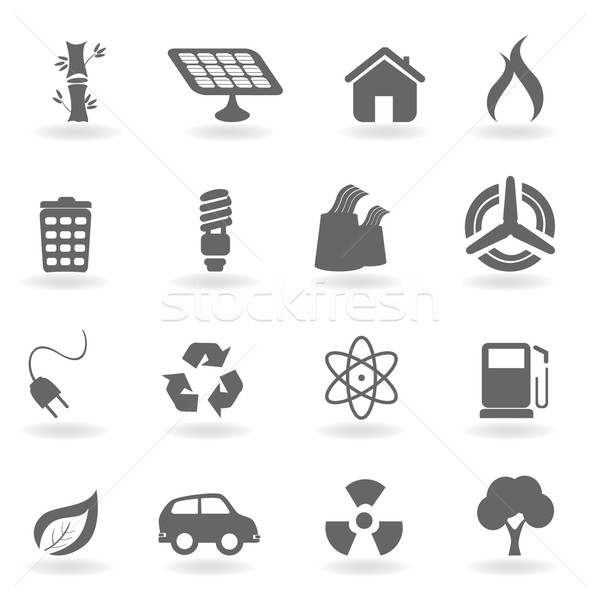 Ecology and environment symbols Stock photo © soleilc