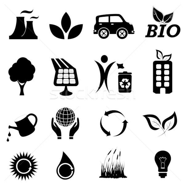 Ecology related symbols Stock photo © soleilc