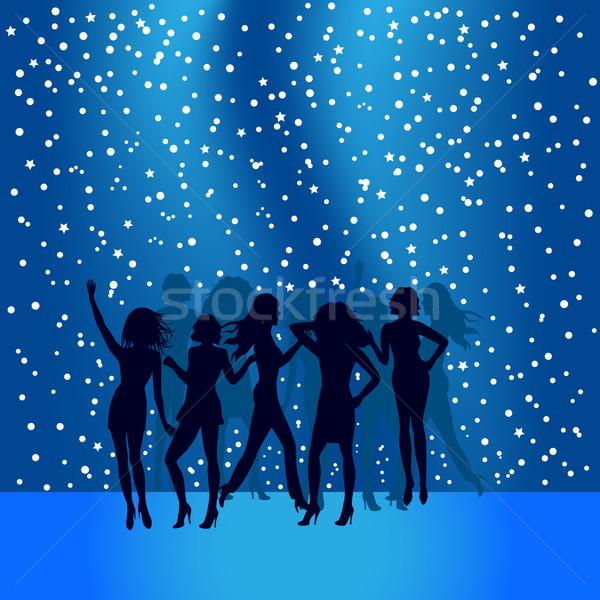Personnes danse piste de danse disco femmes heureux Photo stock © soleilc