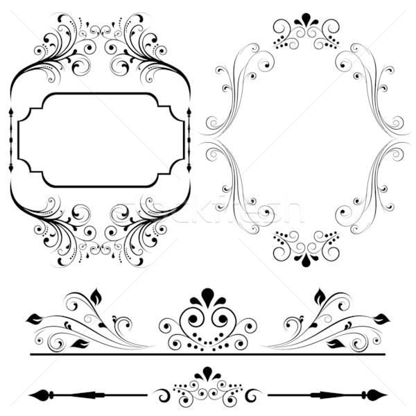 Border and frame designs Stock photo © soleilc
