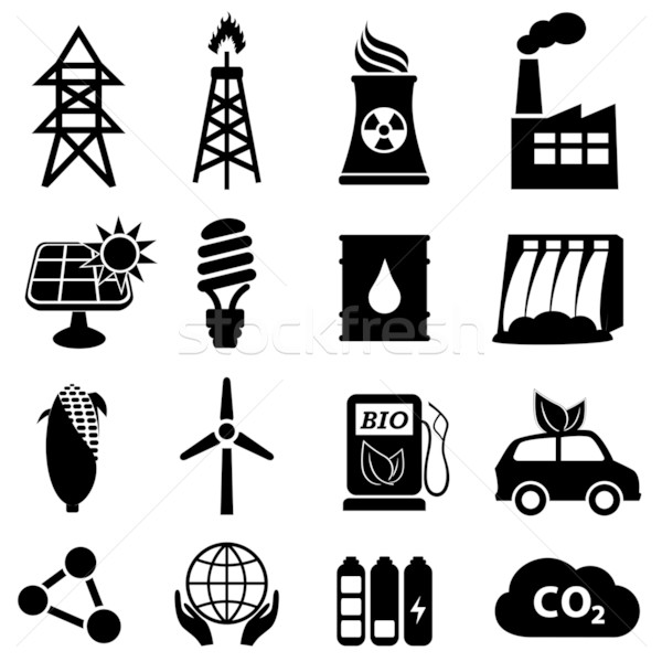 Energy icon set Stock photo © soleilc