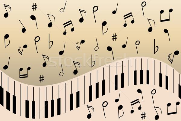 Piano music notes Stock photo © soleilc