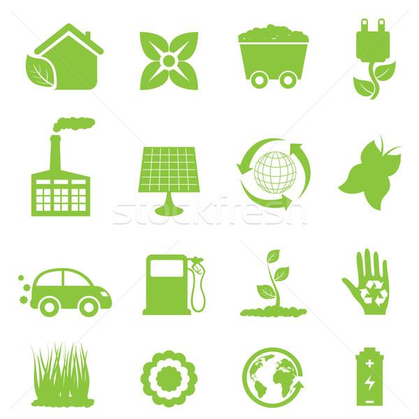 рециркуляции Чистая энергия цветок автомобилей мира Сток-фото © soleilc