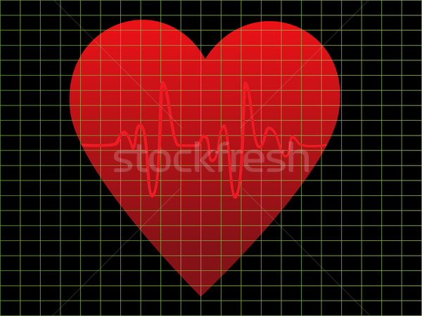 EKG or heart monitor Stock photo © soleilc