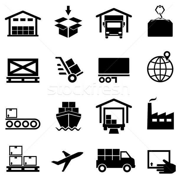 Logistics, supply chain, distribution, warehousing and shipping  Stock photo © soleilc