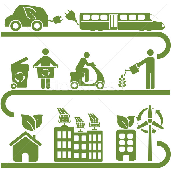 Clean energy and green environment Stock photo © soleilc
