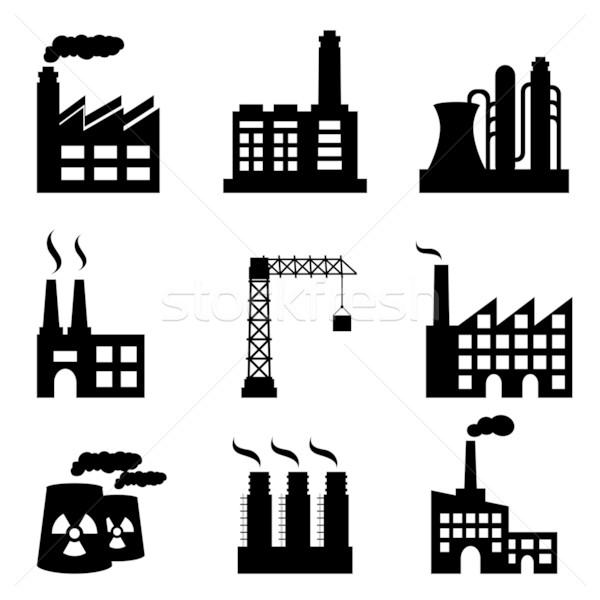 Industrial buildings Stock photo © soleilc