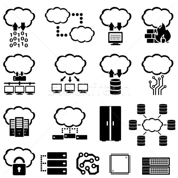 Foto stock: Grande · datos · tecnología · iconos · negocios