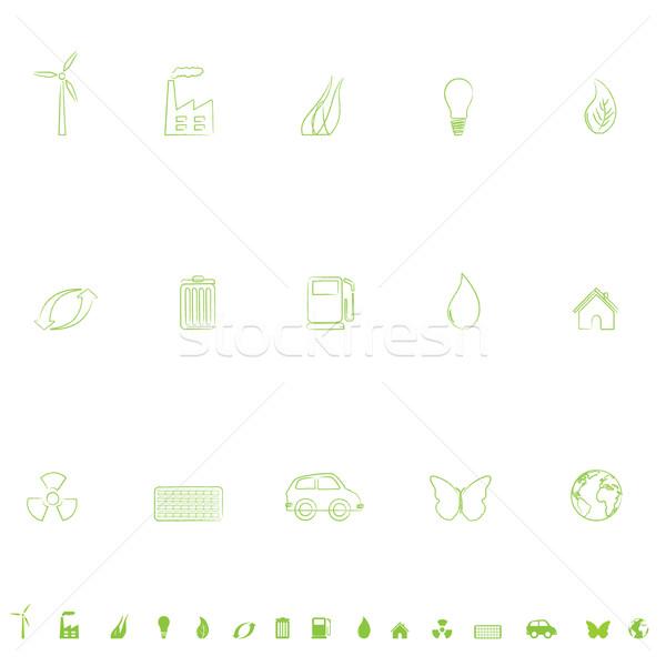 Environnement général symboles papillon maison Photo stock © soleilc