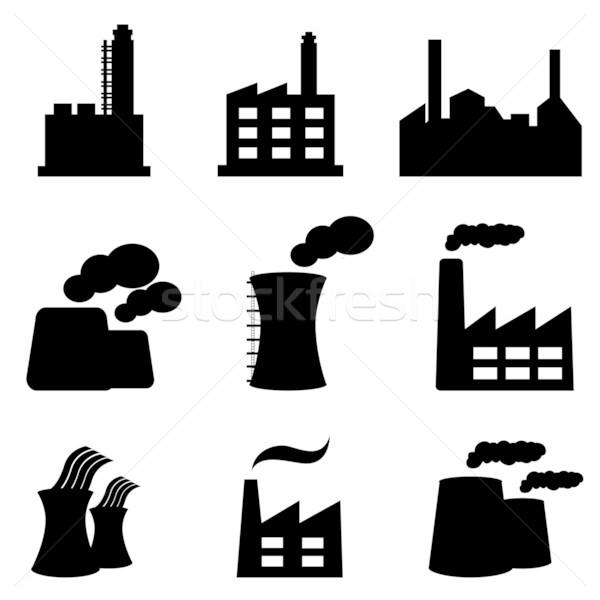 Factories and power plants Stock photo © soleilc