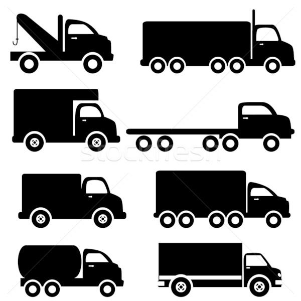 Truck silhouettes Stock photo © soleilc