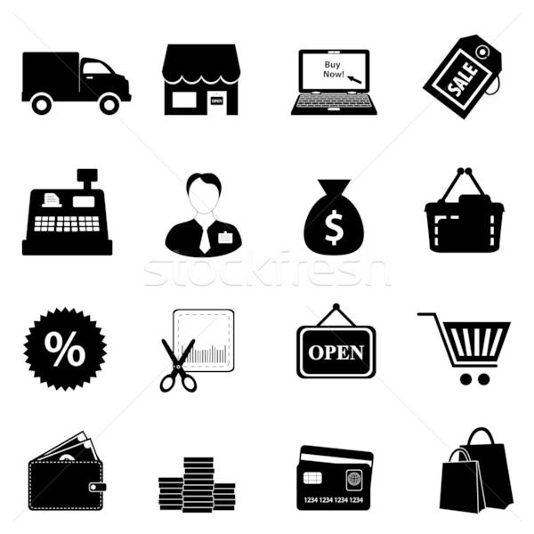 Shopping icon set Stock photo © soleilc
