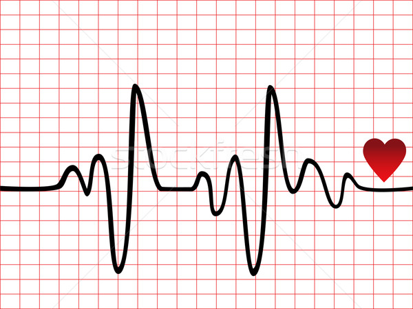 Heart beat monitor Stock photo © soleilc