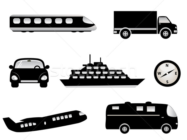 Viaje transporte turismo símbolos avión Foto stock © soleilc