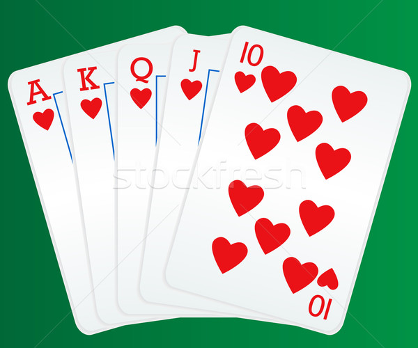 Royal flush poker cards Stock photo © soleilc