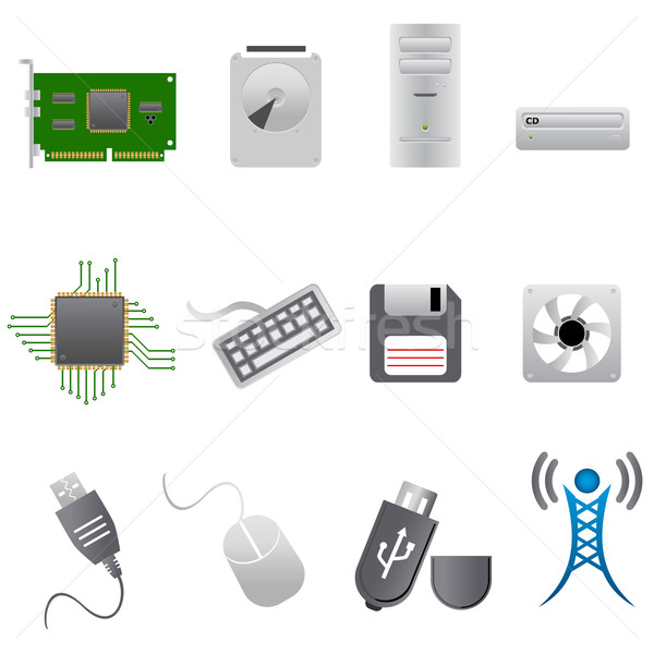 Computer parts and hardware Stock photo © soleilc