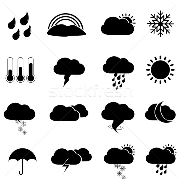 Weather icons and symbols Stock photo © soleilc