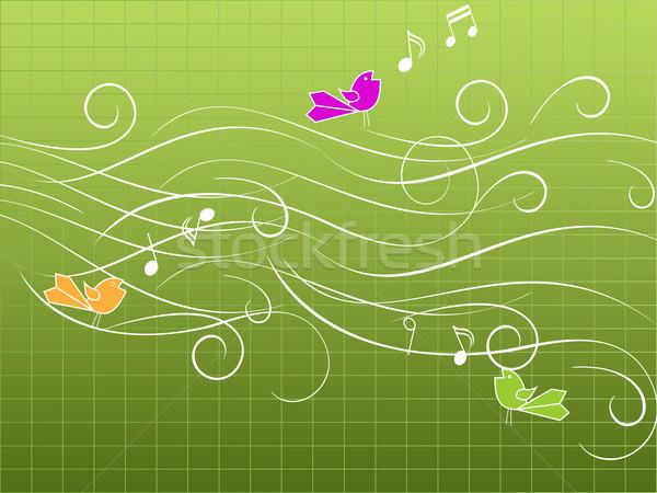 музыкальный птиц пения музыку звук певицы Сток-фото © soleilc