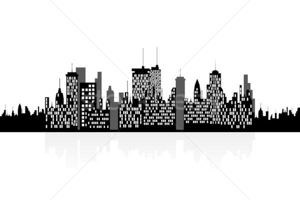 Urbanas rascacielos edificios casa casa Foto stock © soleilc