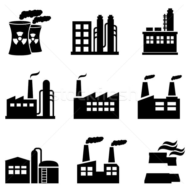 Industrial buildings, power plants and factory Stock photo © soleilc
