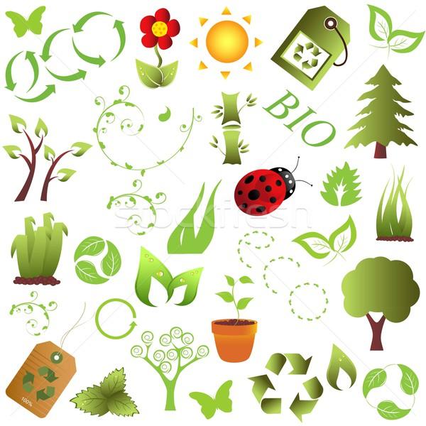 Eco środowiska obiektów ekologia czyste drzewo Zdjęcia stock © soleilc