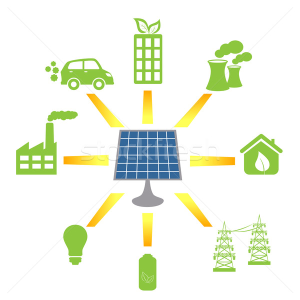 Solar panel generating alternative energy Stock photo © soleilc