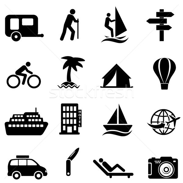 Leisure, recreation and outdoor icons Stock photo © soleilc